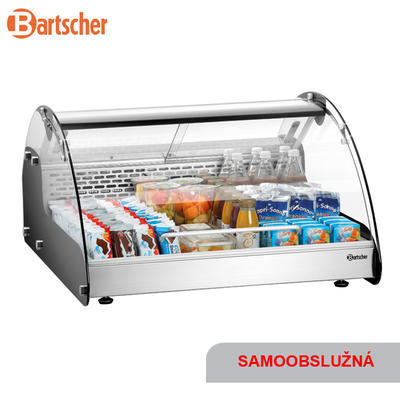 Chladicí vitrína 105 l samoobslužná Bartscher, 700 x 880 x 410 mm - 0,105 kW / 220-240 V - 38 kg - 1