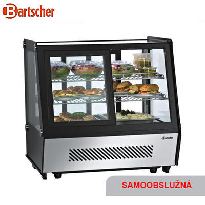 Chladicí vitrína 120 l samoobslužná DELI COOL II D Bartscher, 710 x 568 x 686 mm - 120 l - 0,16 kW / 230 V - 1
