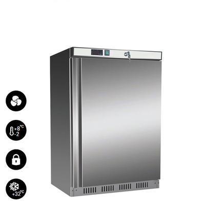 Chladnička podstolová Nordline UR 200 S, nerez / uvnitř bílá - 603 x 595 x 855 mm - 130 l / 78 l - 1