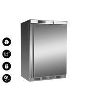 Chladnička podstolová Nordline UR 200 S, nerez / uvnitř bílá - 603 x 595 x 855 mm - 130 l / 78 l - 1/2