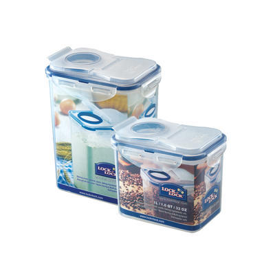 Dózy na potraviny Lock&Lock s otvorem, 15,1 x 10,8 cm - 1,0 l - 12,4 cm - 1