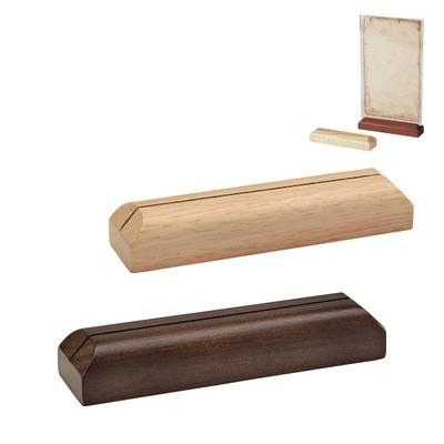 Držák laminovaných karet, světlé dřevo - 12 x 3 x 2 cm - 1