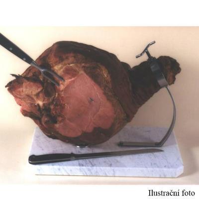 Držák na šunku s mramorovou deskou, 45 x 24 cm
