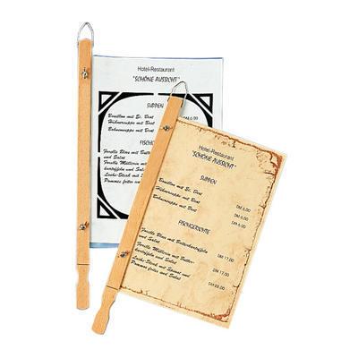 Držák závěsný na jídelní lístky, 43 cm
