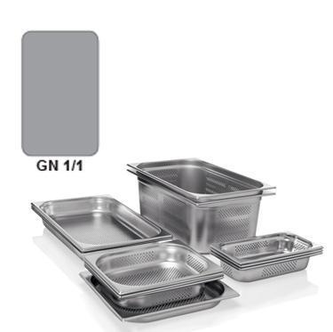Gastronádoba GN 1/1 nerezová děrovaná, GN 1/1-150 - děrované dno i strany - 21,0 l