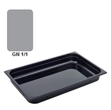 Gastronádoba GN 1/1 polykarbonátová černá, GN 1/1-100 mm