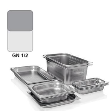 Gastronádoba GN 1/2 nerezová děrovaná, GN 1/2-200 - děrované dno i strany - 12,5 l