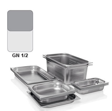 Gastronádoba GN 1/2 nerezová děrovaná, GN 1/2-65 - děrované dno i strany - 4,0 l