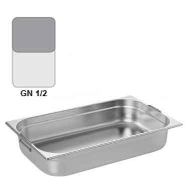 Gastronádoba GN 1/2 nerezová s uchy, 150 mm - 32,5 x 26,5 cm - 9,5 l - 1