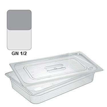 Gastronádoba GN 1/2 polykarbonátová, 100 mm - 32,5 x 26,5 cm - 6,1 l - 1