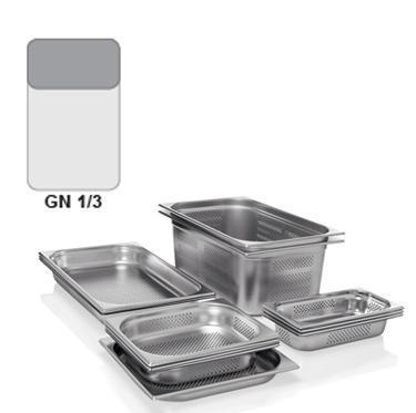 Gastronádoba GN 1/3 nerezová děrovaná, GN 1/3-65 - děrované dno i strany - 2,5 l