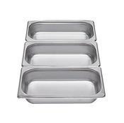 Gastronádoba GN 1/3 nerezová plná, 40 mm - 32,5 x 17,6 cm - 1,5 l - 1/2