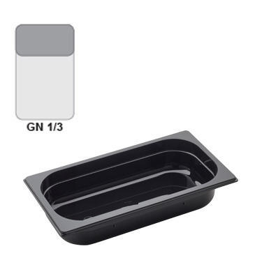 Gastronádoba GN 1/3 polykarbonátová černá, GN 1/3-65 mm