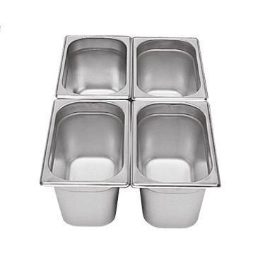 Gastronádoba GN 1/4 nerezová plná, 200 mm - 26,5 x 16,2 cm - 5,5 l - 1