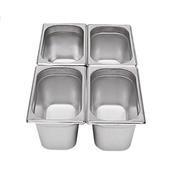 Gastronádoba GN 1/4 nerezová plná, 200 mm - 26,5 x 16,2 cm - 5,5 l - 1/2