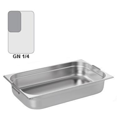 Gastronádoba GN 1/4 nerezová s uchy, 200 mm - 26,5 x 16,2 cm - 5,5 l - 1