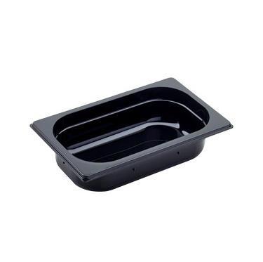 Gastronádoba GN 1/4 polykarbonátová černá, GN 1/4-150 mm