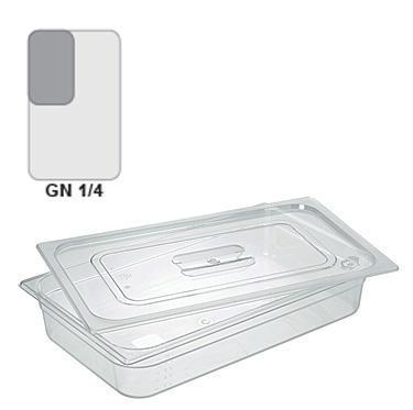 Gastronádoba GN 1/4 polykarbonátová, 100 mm - 26,5 x 16,2 cm - 2,6 l - 1