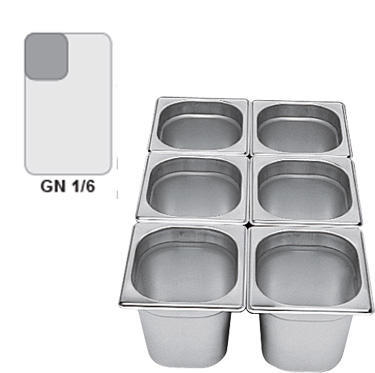 Gastronádoba GN 1/6 nerezová plná, 65 mm - 17,5 x 16,2 cm - 1,0 l - 1