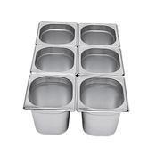Gastronádoba GN 1/6 nerezová plná, 65 mm - 17,5 x 16,2 cm - 1,0 l - 1/2