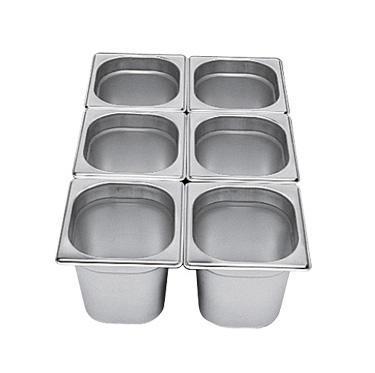 Gastronádoba GN 1/6 nerezová plná, 150 mm - 17,5 x 16,2 cm - 2,4 l - 1