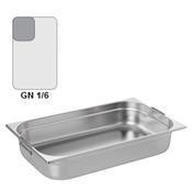 Gastronádoba GN 1/6 nerezová s uchy, 100 mm - 17,6 x 16,2 cm - 1,6 l - 1/2