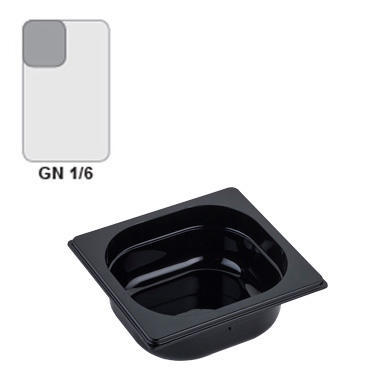 Gastronádoba GN 1/6 polykarbonátová černá, GN 1/6-150 mm
