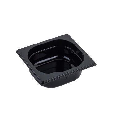 Gastronádoba GN 1/6 polykarbonátová černá, GN 1/6-100 mm