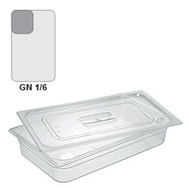 Gastronádoba GN 1/6 polykarbonátová, 150 mm - 17,6 x 16,2 cm - 2,3 l - 1