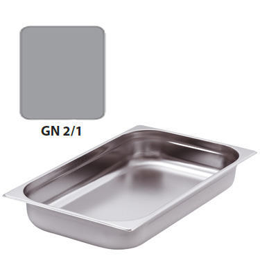 Gastronádoba GN 2/1 nerezová plná, 200 mm - 65 x 53 cm - 57,5 l - 1