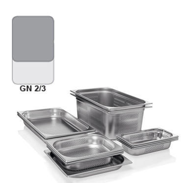 Gastronádoba GN 2/3 nerezová děrovaná, 200 mm - 35,4 x 32,5 cm - 18,0 l