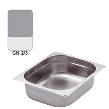 Gastronádoba GN 2/3 nerezová plná, 40 mm - 35,4 x 32,5 cm - 3,0 l - 1
