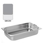 Gastronádoba GN 2/3 nerezová s uchy, 65 mm - 35,4 x 32,5 cm - 5,5 l - 1/2