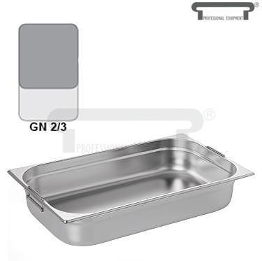 Gastronádoba GN 2/3 nerezová s uchy, 150 mm - 35,4 x 32,5 cm - 13,0 l - 1