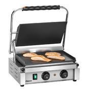 Gril kontaktní Panini T hladké desky Bartscher, 410 x 400 x 200 mm - 2,2 kW / 230 V - 18 kg - 1/6