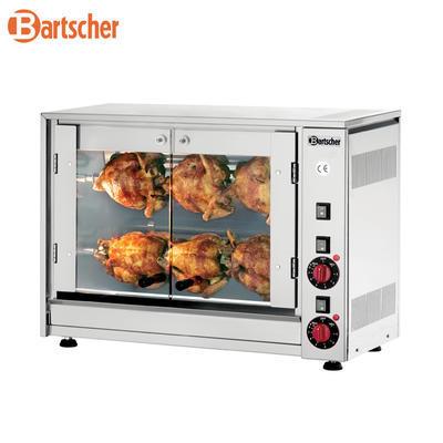 Gril na kuřata, 880 x 430 x 530 mm - 8 kuřat / 2 špízy - 3,5 kW / 230 V - 1