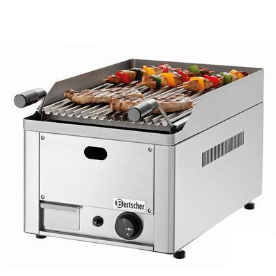 Gril stolní lávový plynový Bartscher, 330 x 545 x 285 mm - 4 kW / plyn - 21,4 kg - 1
