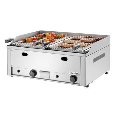 Gril stolní lávový plynový dvojitý Bartscher, 660 x 570 x 282 mm - 8 kW / plyn - 40,6 kg - 1