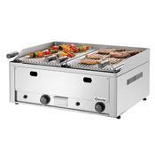 Gril stolní lávový plynový dvojitý Bartscher, 660 x 570 x 282 mm - 8 kW / plyn - 40,6 kg - 1/2
