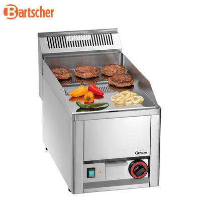 Grilovací deska 320E hladká Bartscher, 330 x 625 x 450 mm - 3 kW / 230 V - 24 kg - 1