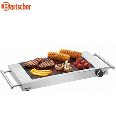 Grilovací deska keramická rýhovaná Bartscher, 640 x 365 x 63 mm - 1,2 kW / 220-240 V - 4,3 kg - 1