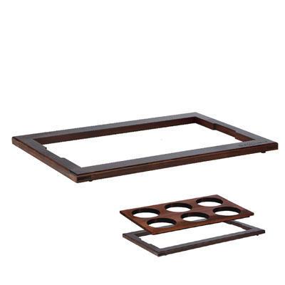 Horní rám pro studený bufet tmavý, tmavý buk - 58 x 40,5 cm - 2 cm