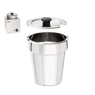 Hrnec pro Hotpot Bartscher, Víko na 3,5 l - 190 x 190 x 25 mm - 0,15 kg