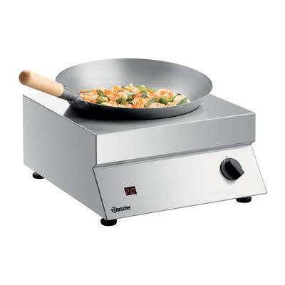 Indukční vařič Wok 50-293 Bartscher, 400 x 455 x 180 mm - 5 kW / 230 V - 12 kg - 1