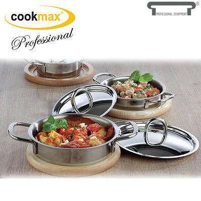 Kastrol servírovací mini Cookmax Professional, kastrol mini - 10 x 3 cm - 0,235 l - 1