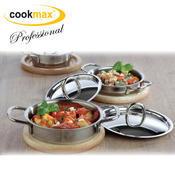 Kastrol servírovací mini Cookmax Professional, kastrol mini - 10 x 3 cm - 0,235 l - 1/4