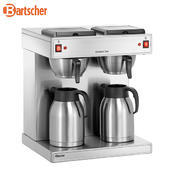 Kávovar Contessa Duo Bartscher, 2 x 2 litry - 430 x 400 x 520 mm - 2,8 kW / 230 V - 1/3