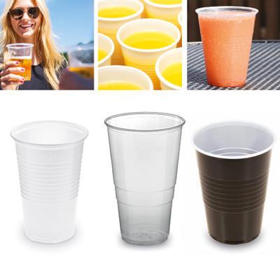 Kelímek plastový pro studený a teplý nápoj, 0,50 l - průhledný - 50 ks