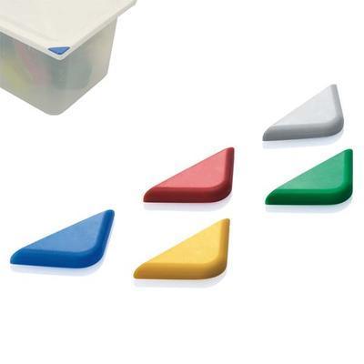 Klip označovací barevný HACCP, červená