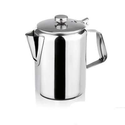 Konvice na kávu nerezová s víčkem, 1,0 l - 10,0 cm - 15,0 cm